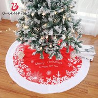 Christmas Decorations Bubble Kiss Faux Fur Tree Skirts Party Festive Xmas High Quality Skirt Red Home Holiday Decor Mat