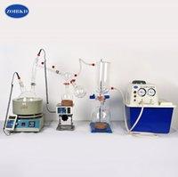 Laboratuar ölçeği küçük ekipman 2L kısa yol damıtma vakum pompaları kiti ED90 içerir