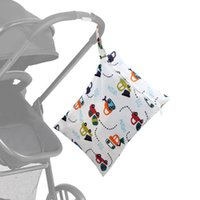 Diaper Bags Mommy Stroller Nappy Infant Single Zipper Dry Wet Storage Bag Baby Waterproof Cloth Rubbish Pocket Travelling Cover