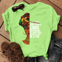 Graphic Tshirt Female Print Women T Shirt Juneteenth My Independence Day T-Shirt Femme Melanin Shirts African Black Girl