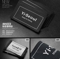 High-density Custom logo clothes garment woven label for suit collar t-shirts fashion dress labels not cratch the skin