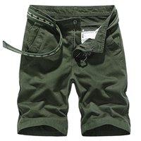 Pantaloncini da uomo ISURVIVOR 2021 Uomo Colore solido Casual Fashion Multi Tasche Cargo maschile Slim Fit Large Size Ginocchio Estate Lunghezza