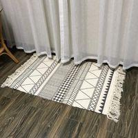 Carpets Sofa Cotton Linen Tapestry Home Decor Machine Washable Floor Printed Bedroom Tassels Nordic Style Rug Manual Carpet Retro