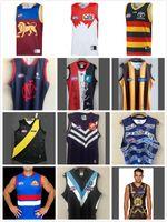2021 AFL Vest Coast Eagles Geelong Gatos Rugby Jerseys Tees Essendon Bombardeiro Melbourne Blues Adelaide Crows St Kilda Saints GWS Giants Guernsey