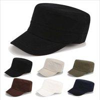 Мужские лето простые плоские колпачки шляпы GSMB058 классический открытый монохромный военный шляп шарика