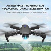UAV Cevennesfe Novo Drone 4K HD Angle Dual Câmera Dual WiFi FPV Posicionamento Altura Mantenha o Dobrável RC Helicóptero Drones Presente Q0602