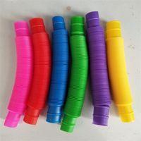 Twist pour connecter des tubes à doigts Stretch Telescopic Party Favorez une large sélection de couleurs Sensory Toy Vocalisation Jouets Toys POP Tube Décompression Stress 0 85MMT Y2