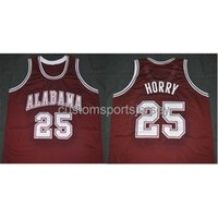Shisted Custom Alabama College Robert Horry Road Classics Баскетбол Джерси NCAA Мужские баскетбольные майки