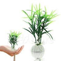 Decorations 2pc lot Ornamental Plants Fish Tank Short Paragraph Lucky Bamboo Artificial Water-Y102