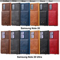 Hand Phone Cases for Samsung Galaxy Note 20 10 9 8 S20 S10 S9 S8 Plus 10+ Ultra with Card Slots Strap Made of PU Leather