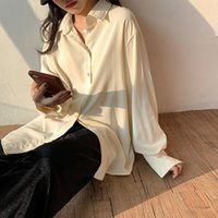 Women's Blouses & Shirts 2021 Loose Women Summer Long Sleeve Womens Vintage Sunscreen Blusas Roupa Feminina Tops Casual