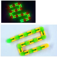 Luminous 24 Links Wacky Tracks Fidget Snake Puzzle Snap and Click Sensory Toys Anxiety Stress Relief ADHD Needs Decompression Toy 2558 Y2