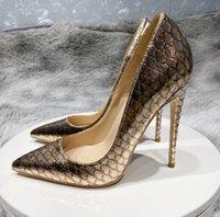 Fashion Luxury Designer Shoes Women Red bottoms High Heels 8cm 10cm 12cm plus size eu34 to 45 Pointed Toes Pumps Stilettos wedding shoe nightclub Lace sandals