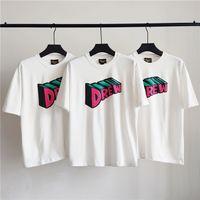 Erkek T Gömlek Drew House Üç Boyutlu Justin Bieber Yüksek Sokak Kısa Kollu Tişört Üst Rahat Moda Erkek Giyim