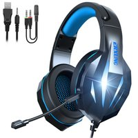 ERXUAN J5 Headset Over-Ear Wired Game Earphones Gaming Headphones Deep Bass Stereo With Microphone For PS4 Xbox PC Laptop Gamer