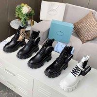 Botas para mujer de invierno de alta calidad Calfskin Martin Zapato desmontable de nylon de nylon zapatos de combate para las señoras al aire libre fondo grueso de la mitad de la longitud media 35-45