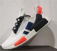 Più nuovo NMD Runner R1 v2 Primeknit triplo Black Bianco Scarpe da corsa da uomo Donne Oreo NMDS Des Chaussures Sneakers sportivi