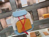 الكلاسيكية الرباط حقيبة الظهر 2021 الأزياء خياطة حقيبة يد كبيرة سعة التسوق حقيبة سفر عالية الجودة المدرسية المحفظة 1031