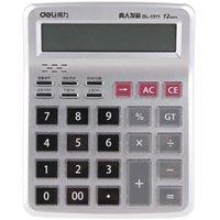Deli 1511 Calcolatore vocale a 12 bit Calcolatrice a chiave di cristallo 30 canzoni pop