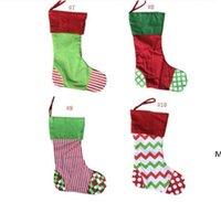 Новые дизайны рождественские чулки вышитые персонализированные чулок подарок сумка рождественские дерево конфеты орнамент семьи праздник праздник DHD6006