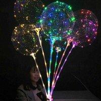 Şık Renk Dekorasyon LED Bobo Balon Noel Cadılar Bayramı Doğum Günü Partisi Glitter Arka Plan Süslemeleri ile