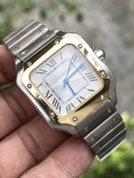Casual Square Watch 33mm Stainless Steel Bracelet Fashion Women Watches Quartz Wristwatch Good Gift 2 Tone Gold