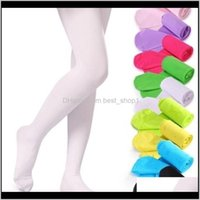 Leggings 19 Colors Girls Pantyhose Tights Kids Dance Socks Candy Color Children Veet Elastic Legging Clothes Baby Ballet Stockings Wtl Qpq9R