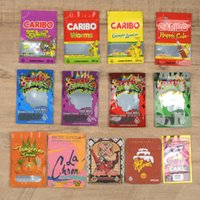 bears edibles mylar bags 3 side sealing plastic packaging 13 flavors gold fizzy cola caribo happy berries frogs dinosaurs BARIBO medibles