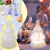 Christmas Decorations Tree Color LED Enamel Night Light Decoration - Colorful Gradient Artificial Indoor