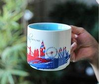 420ml Creative Coffee Mug Global Idol City Collector Series Tea Cups Ceramic Prints Milk Tumblers For Cafe Room