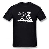 더 자주 섹스 남성 티셔츠 셔츠를 먹는 인생을 즐기십시오. 주문 재미있는 T 셔츠 정상적인 짧은 소매 남자의 티셔츠 캐주얼 탑 티셔츠