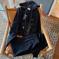 Moda Bayan Eşofman 21ss Kadın Eğitim Takım Elbise Stylist Nedensel Hoodie Kadın Giyim Stilist Rahat Stil Spor Set Uzun Kollu S-L