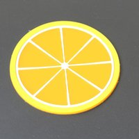 Fruit Silicone Coaster Mats Pattern Colorful Round Cup Cushion Holder Thick Drink Tableware Coasters Mug DH2412