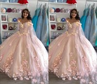 Romantic Blush Pink Embroidered Quinceanera Dresses 2021 Ball gown with Cape Robe 3D Floral Flowers Beaded Long Ruffled Sweet 15 Prom Eveening Dress