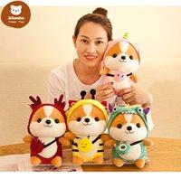 Dropshipping Shiba Inu Baby Plush toys Dog Cosplay Funny Stuffed Animal Dog Toys Dolls Children Toys kids Gift 25CM tr