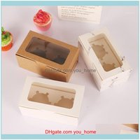 Gift Wrap Event Festive Supplies Home & Gardenkraft Paper Cupcake Packaging With Window Cake Decoration Tools Muffin Box Wedding Party Baby
