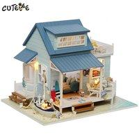 CuteBee دمية منزل مصغرة diy دمية مع اثاث منزل خشبي لعب للأطفال هدية عيد البحر الكاريبي البحر A037 Y200413