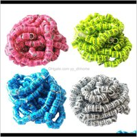 Other Bird Supplies 400Pcs Racing Pigeon Leg Ring Band Tag With Place Name Number Hpw3N 0Jome