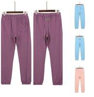Designer mens sportpants essential pocket pants long loose letter essentials warm casual Solid Color Joggers Rainbow side stripes men Pant Trousers Elastic Waist