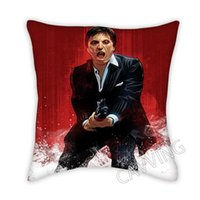 Pillow Case Scarface 3D Printed Polyester Decorative Pillowcases Throw Cover Square Zipper Cases Fans Gifts