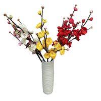 Dekoracyjne kwiaty wieńce 62 cm 21 sztuczny kwiat Home Wedding Party Store biurowy BAR Symulacja Wintersweet Pogalogia