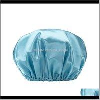 Caps de chuveiro ding tampa de banho com cor lisa forro de cor para mulheres adultas dupla impermeável f jllczt mydif pbncr