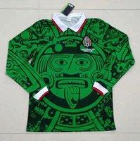 1995 1998 Retro Edition Mexico Soccer Jersey Manica lunga Breve 1994 Luis Garcia World Cup 2006 Ramirez Shirt Blanco Hernandez Uniformi di calcio