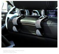 Bling Bling Cars Back сиденья головные крючки, 2 пакета кошелька крючков для автомобиля, Организаторы задних сидений Аксессуар и хранение для соединительных зонтов Повесить кошелек или продуктовые пакеты