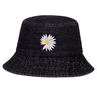 Summer Daisies Bucket Hat Women Men Vintage Denim Fashion Fisherman Cap Girls Daisy Sun hats hip hop caps Panama Hat casquette