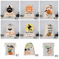 DHL HALLOWEEN CONDY BAG Подарочный мешок угощение или трюк тыквенные напечатанные сумки Hallowmas Рождественская вечеринка Фестиваль шкура Drawstring