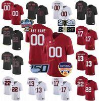 NCAA College Jerseys Alabama Carmesim Maré 2 Patrick Surtain II 6 Devona Smith 10 Mac Jones 11 Henry Ruggs III Football personalizado costurado