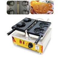 Food Processing 110v 220v Electric Ice Cream Bear Waffle Maker Taiyaki Machine