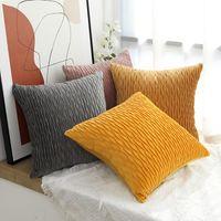 Cushion Decorative Pillow 45*45CM Soft Velvet Cushion Cover Decorative Pillows Throw Case Solid Luxury Home Decor Living Room Sofa Seat Coff