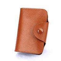 Einfache design unisex org visitenkarte taschen halter echtes leder bank kardcase mode hasspee brieftasche münze geldbörse zucker farbe gwe5839
